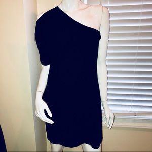 Halston Heritage One Shoulder Knit Dress